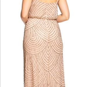 Adrianna Papell Dresses - NWT Adrianna Papell Art Deco Blouson Beaded Gown